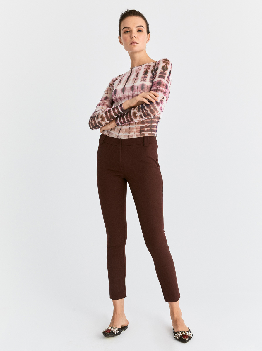Skinny Bordo Pantolon 3