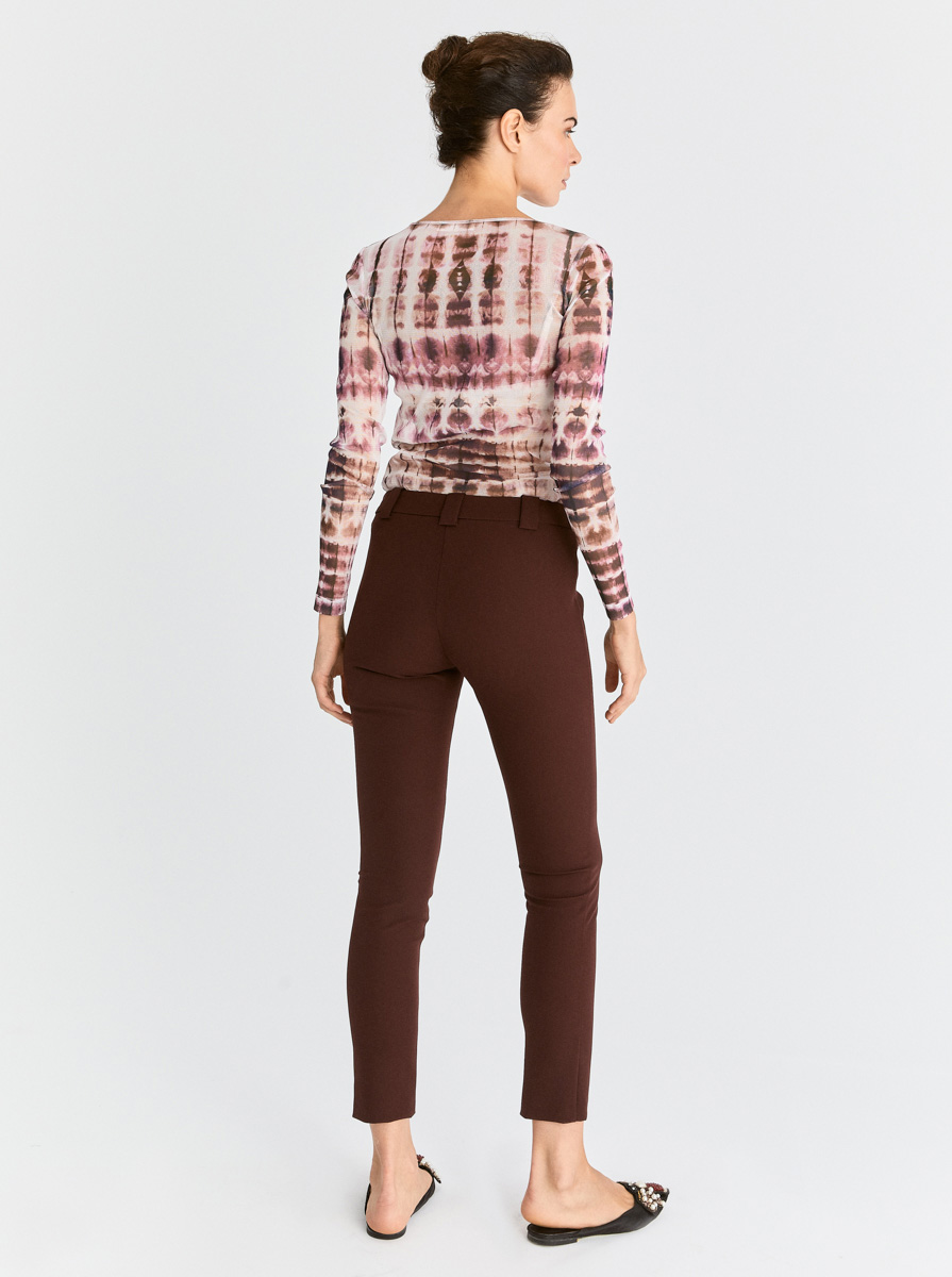 Skinny Bordo Pantolon 4